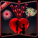 Love Fireworks Wallpaper icon