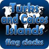 Turks and Caicos Isl flag cloc