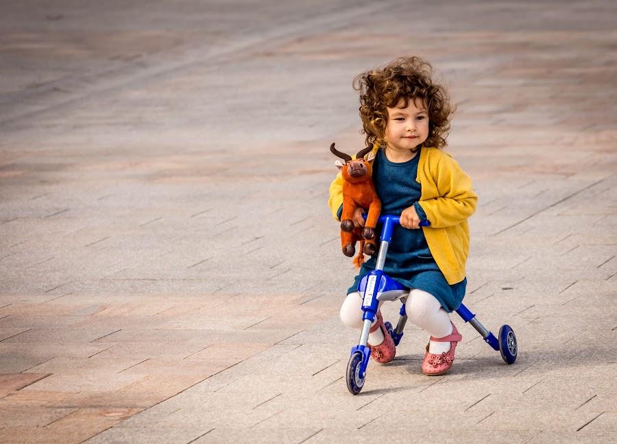 by Adrian Ioan Ciulea - Babies & Children Children Candids ( children portrait, girl, tricycle, street,  )