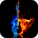 Burning Guitar Live Wallpaper icon