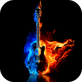 Burning Guitar Live Wallpaper
