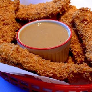 Healthier Crispy Chicken Fingers with Honey-Mustard Sauce