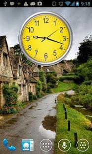 Yellow clock Wallpapyrus pro