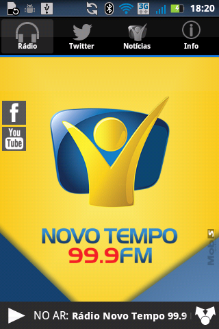 Rádio Novo Tempo 99.9 FM - screenshot