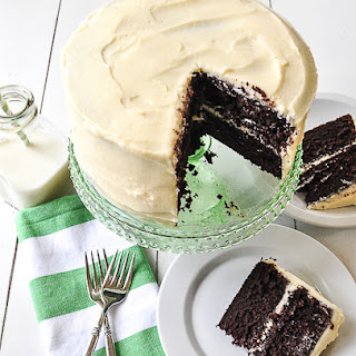 Chocolate Cake With Cream Cheese Frosting.