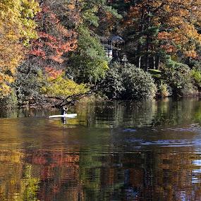 Canoe by Steve Bales - Transportation Boats