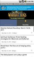 Screenshot of World Of Warcraft Blog Reader