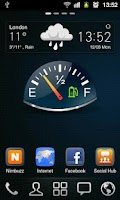 Screenshot of Gauge Battery Widget