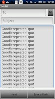 Screenshot of Goodle Repeated Input