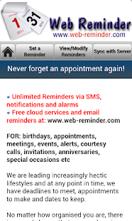 Phone Reminder Free- screenshot thumbnail