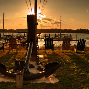 Anchor at Sunset by Keith Wood - Artistic Objects Other Objects ( kewphoto, sunset, beaufort sc, anchor, keith wood, golden hour, sunrise,  )