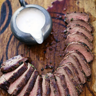 Grilled Venison Loin with Horseradish Cream Sauce