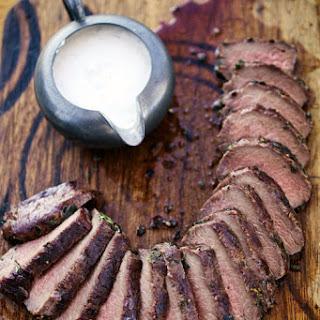 Grilled Venison Loin with Horseradish Cream Sauce Recipe