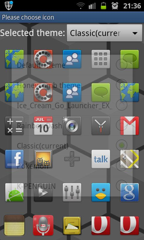 Cube HD Go Launcher Theme - screenshot