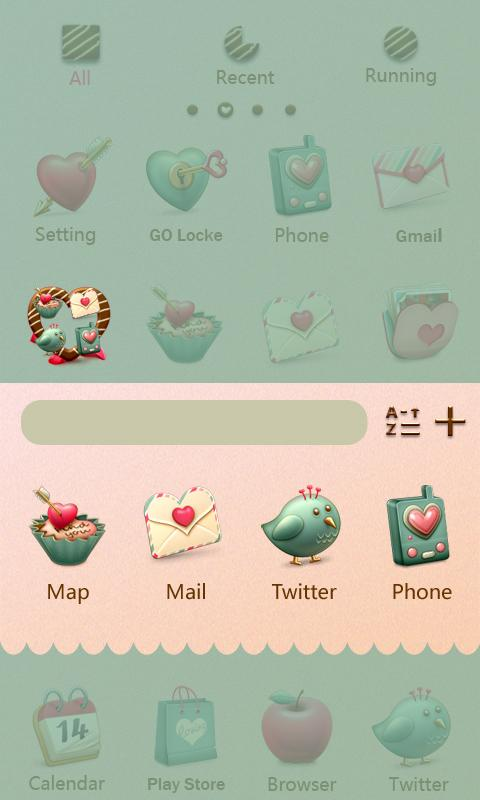 Sweetie - GO Launcher Theme - screenshot
