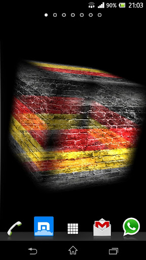 3D Germany Cube Flag LWP