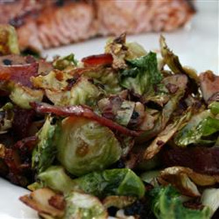 Shaved Brussels Sprouts with Bacon and Almonds