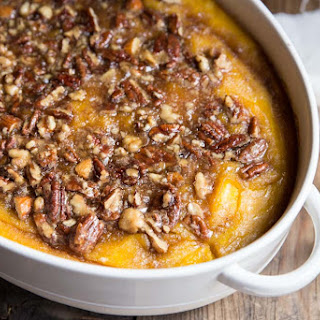 Roasted Squash Casserole with Maple Nut Praline