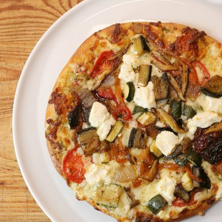 Vegetarian Pizza with Wild Mushrooms and Pesto Recipe
