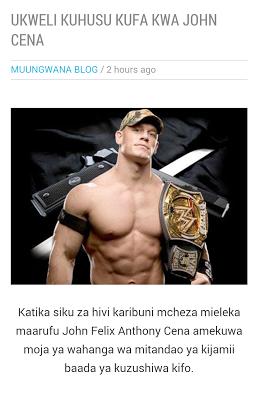 Muungwana Blog - screenshot