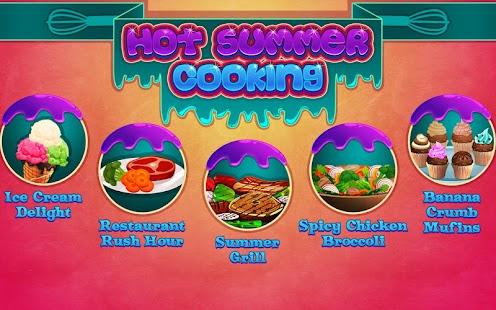 炎熱的夏季烹飪