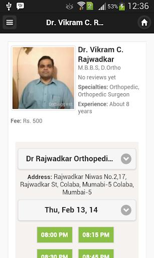 Dr. Vikram C. Rajwadkar Appts