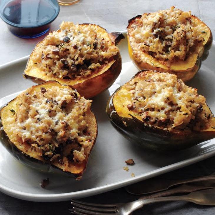 Acorn Squash Stuffed with Mushrooms and Rice Recipe