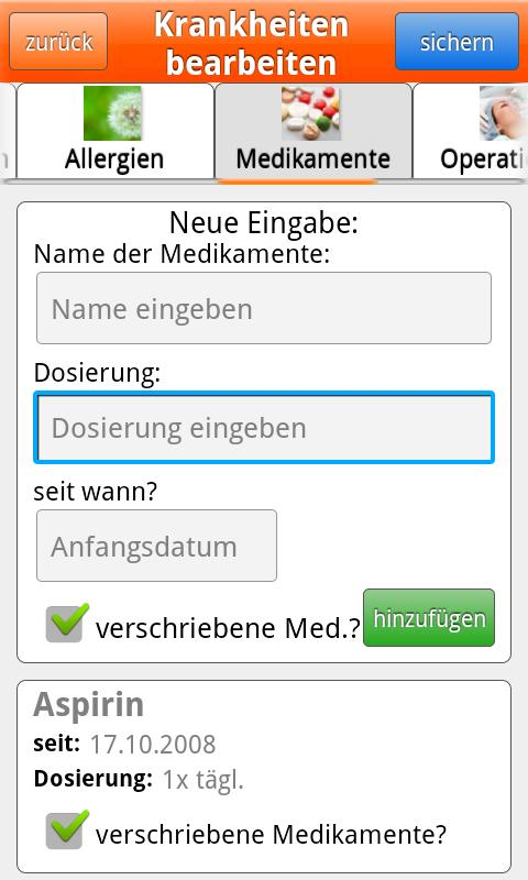 MedMerker - screenshot