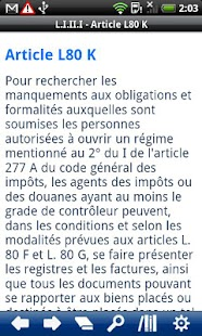 French Book of Tax Procedures - screenshot thumbnail