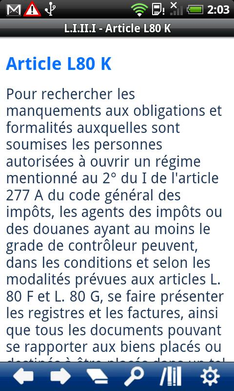 French Book of Tax Procedures - screenshot