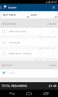Price Reminder (Shopping List) - screenshot thumbnail