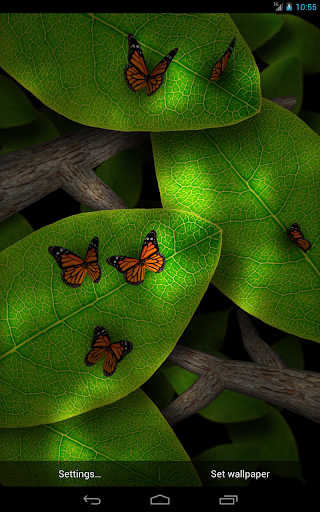 Tap Leaves Free Live Wallpaper