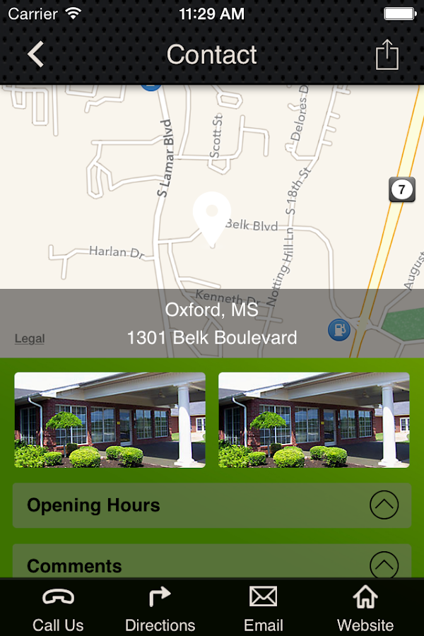 Oxford Health and Rehab- screenshot