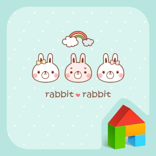 個人化必備App rabbitrabbit dodol theme LOGO-綠色工廠好玩App