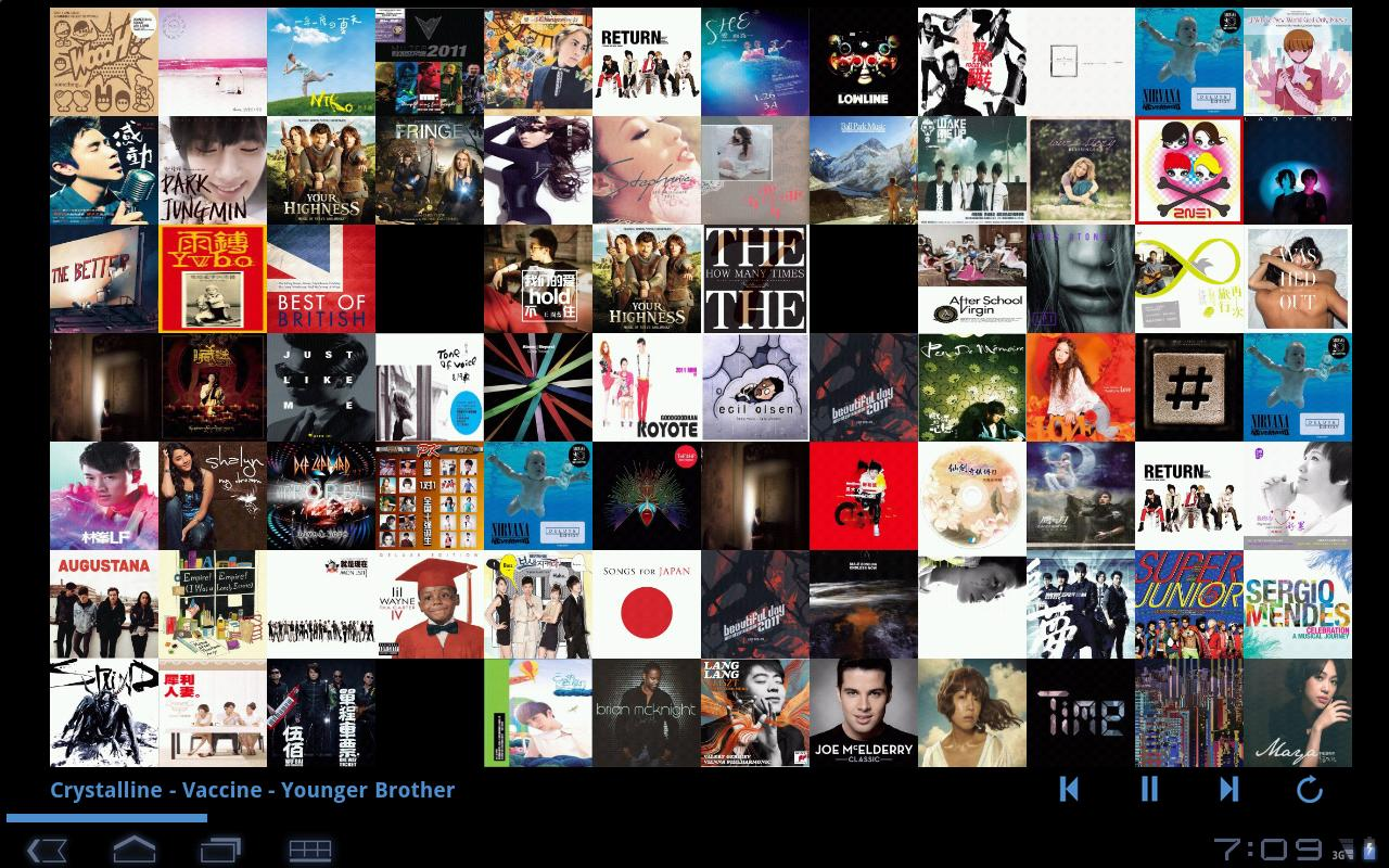 MusicWall- screenshot