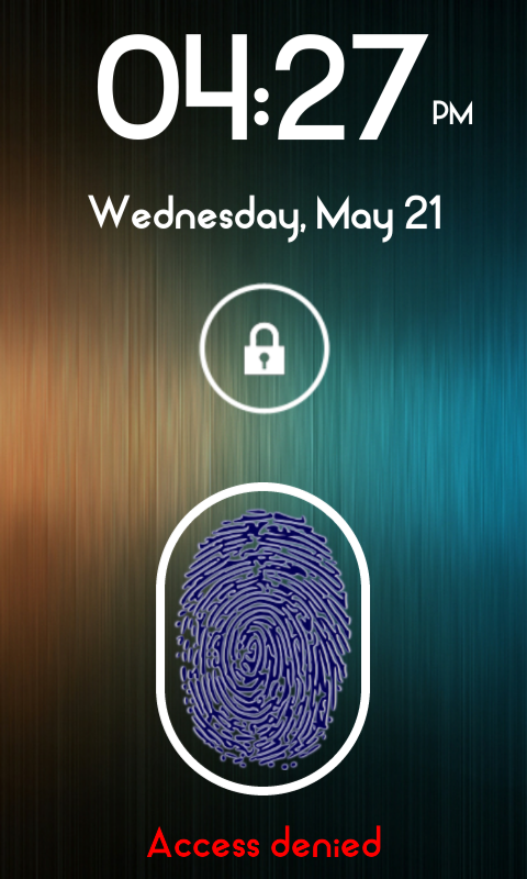Fingerprint Lock Screen Plus - screenshot