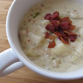 Slow Cooker New England Clam Chowder.