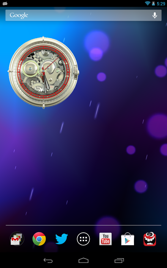 Analog Clock Wallpaper/Widget- screenshot