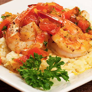 Pan-Seared Shrimp with Saffron-Tomato Sauce