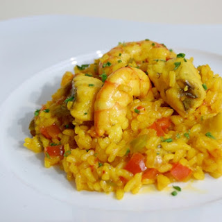 Rice with Monkfish and Shrimp.