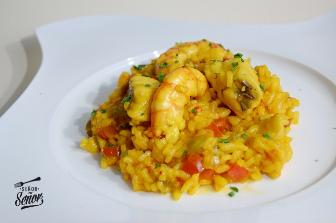 Rice with Monkfish and Shrimp Recipe