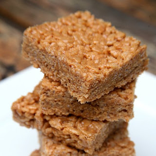 Peanut Butter Protein Rice Krispies Treats.