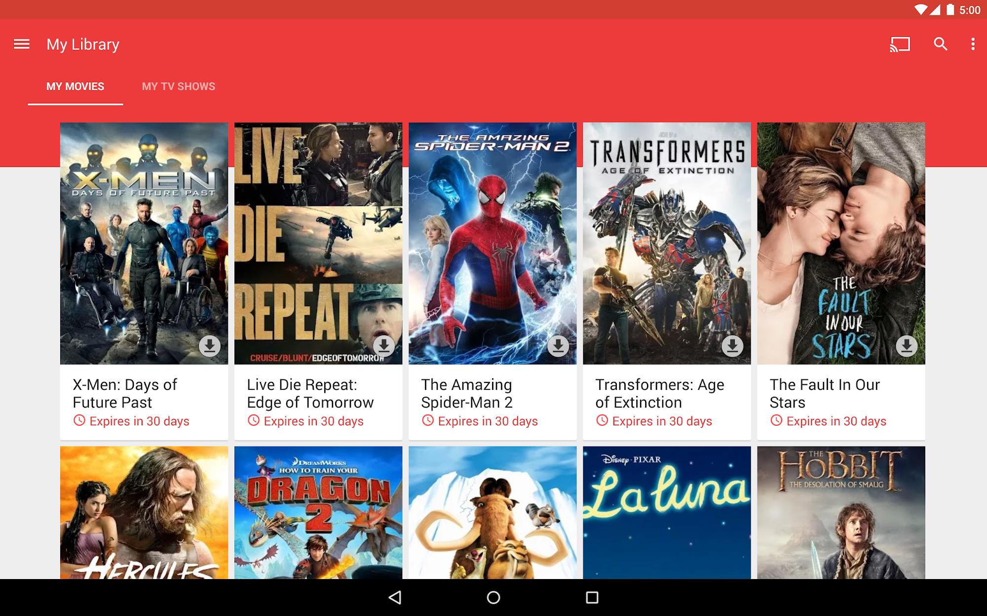 Google Play Movies & TV screenshot #9
