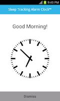 Screenshot of Sleep Tracking Alarm Clock