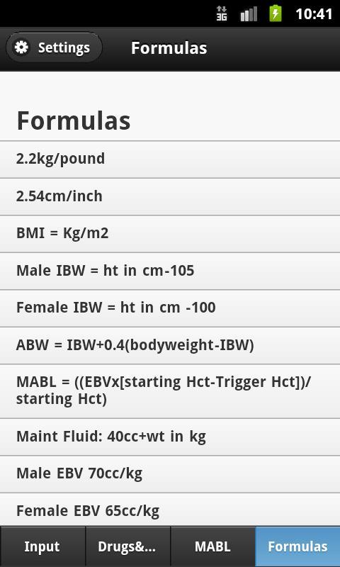 Anesthesia Calculator- screenshot