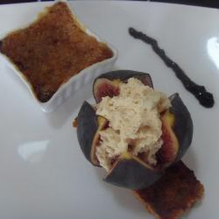 Foie Gras Creme Brulee With Figs.