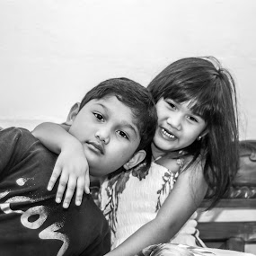 Brother And Sister by Luqman Asnawi - People Family (  )