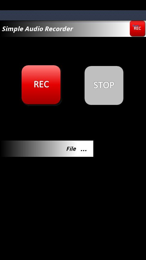 Simple Audio Recorder - screenshot