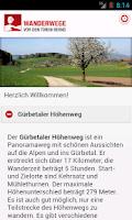 Screenshot of Wanderwege vor den Toren Berns