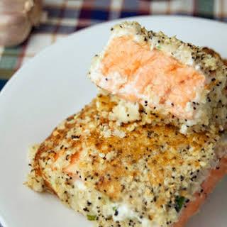 Baked Everything Bagel Salmon.